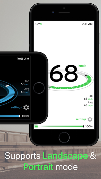 MPH & KPH Speedometer Classic screenshot two