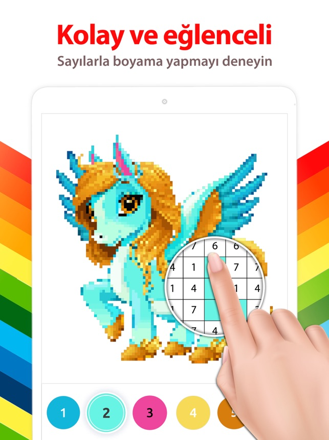 Boynuzlu At Sayilarla Boyama App Store Da