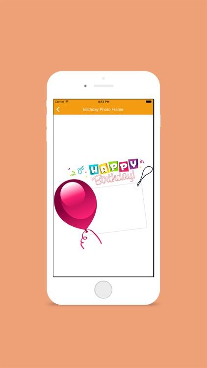 Birthday Photo Frame Editor screenshot-4
