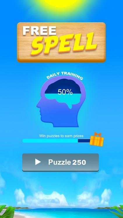 FreeSpell — Brainy Word Game screenshot-3