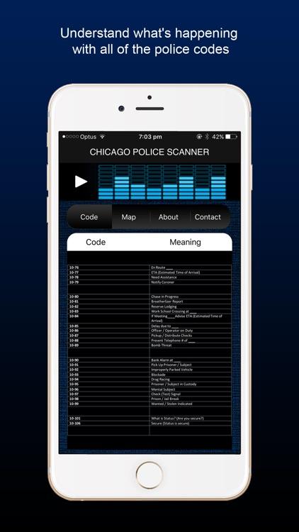 Chicago Police Scanner Radio by Travis Oakley