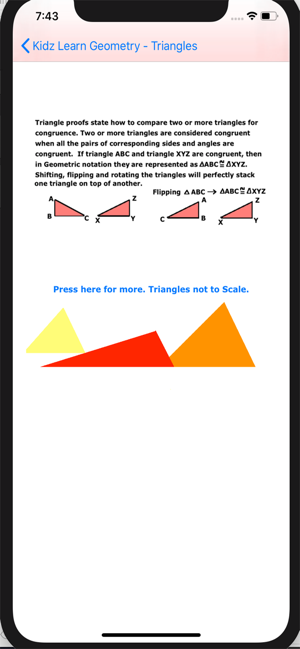 ‎Triangles in Geometry Screenshot