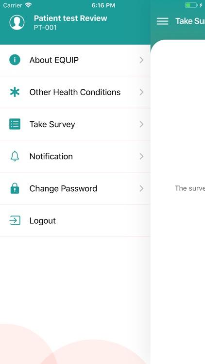 EQUIP - Patient App screenshot-4