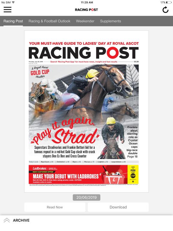 Racing Post for iPad Daily Edition screenshot