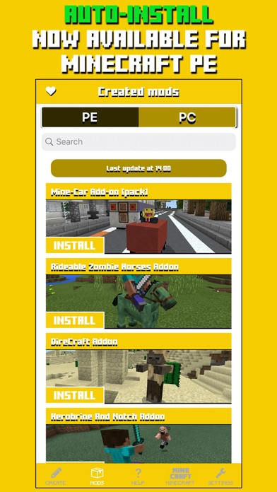 Mods for Minecraft PC & PE screenshot one