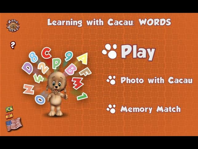 Aprenda com Cacau: Palavrinhas