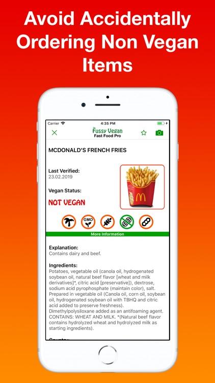 Fussy Vegan Fast Food Pro screenshot-3
