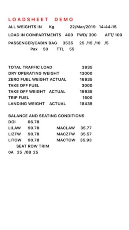 FOKKER-50 Weight and Balance screenshot-4