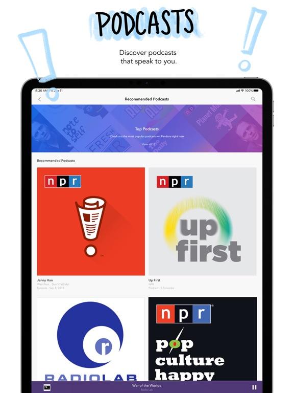 Pandora: Music & Podcasts by Pandora Media, Inc  (iOS