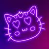 Neon Kitty Glowing Stickers