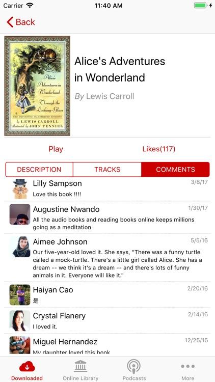 Audiobooks - Librivox library