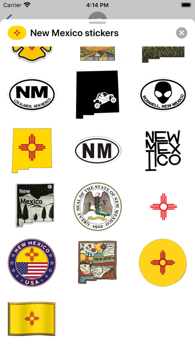 New Mexico emoji USA stickers screenshot 2