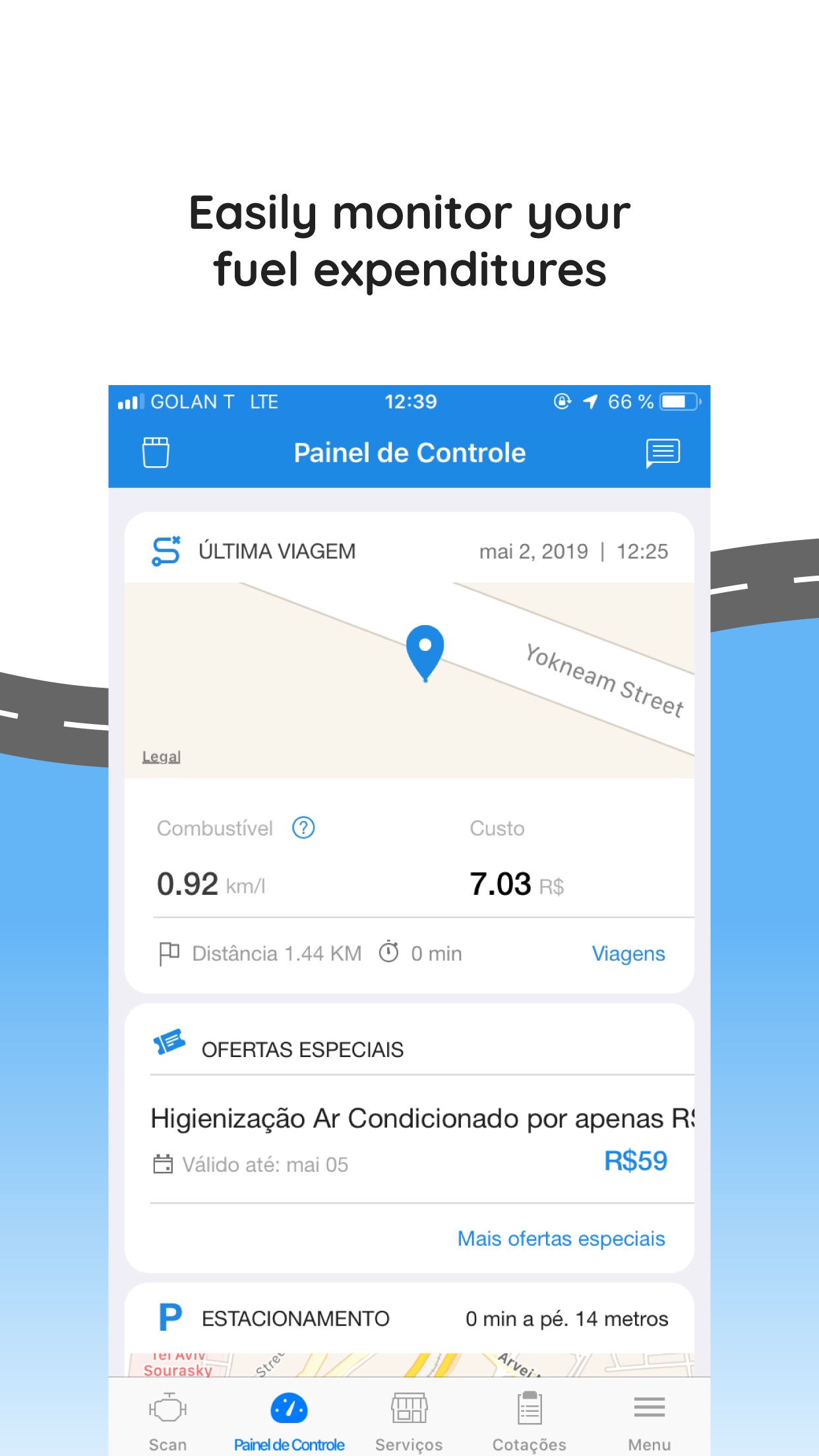 Screenshot do app Engie - Entenda o seu carro