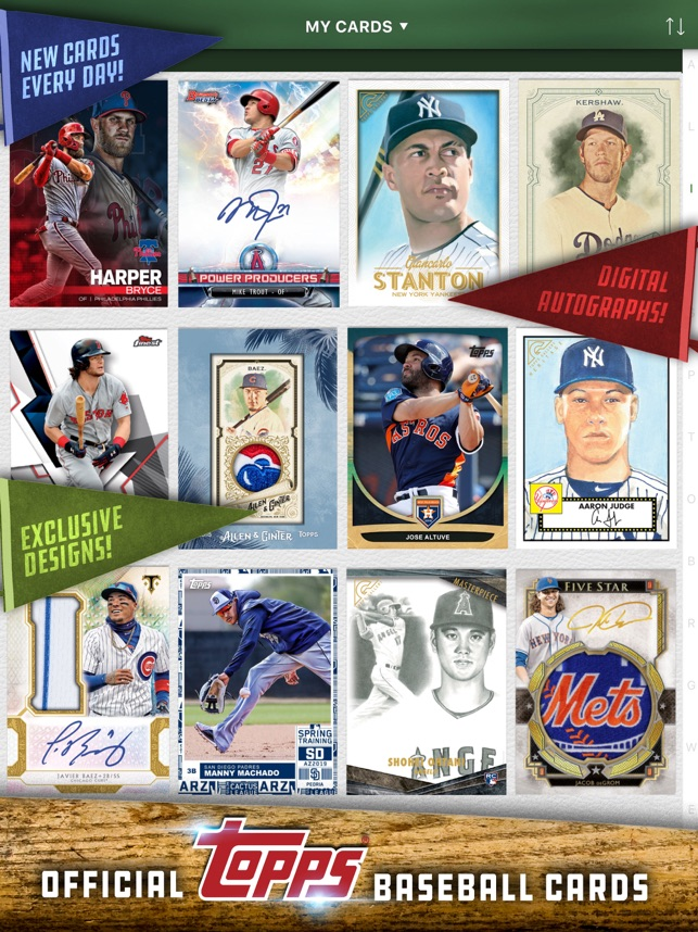 Mlb Bunt Baseball Card Trader On The App Store
