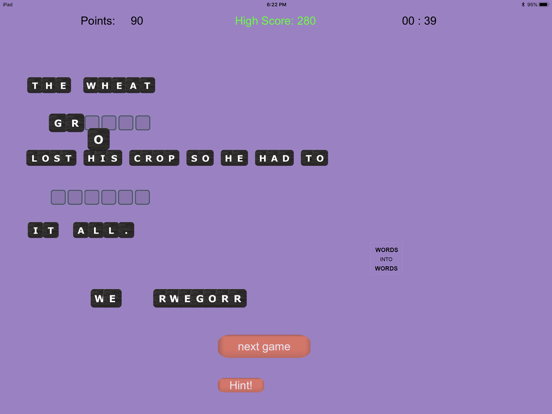 WORDS into WORDS screenshot 2