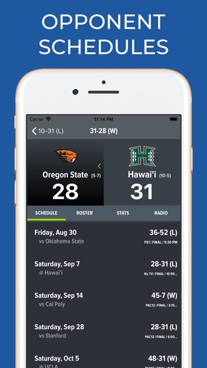 Hawaii Football Schedules screenshot-7