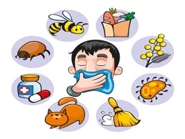 The AllergiesLL is a small sticker, which are show the 50 Allergies sticker in cartoon
