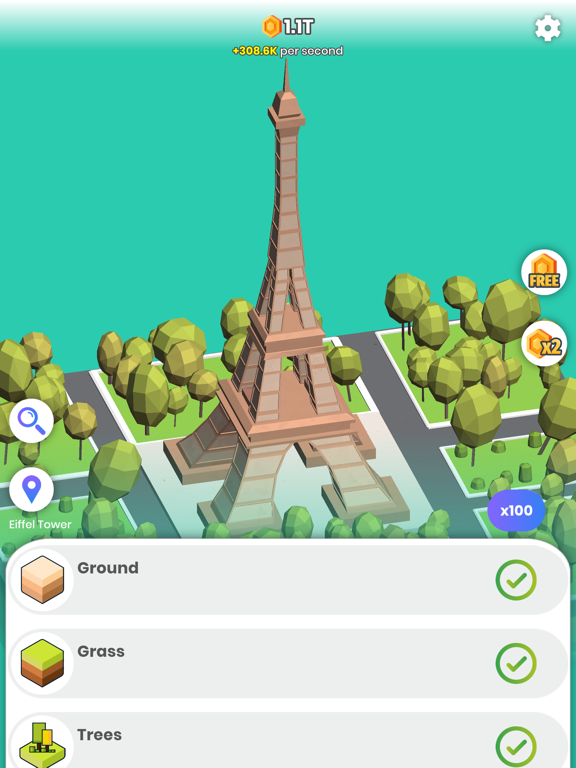 Idle Landmarks screenshot 8