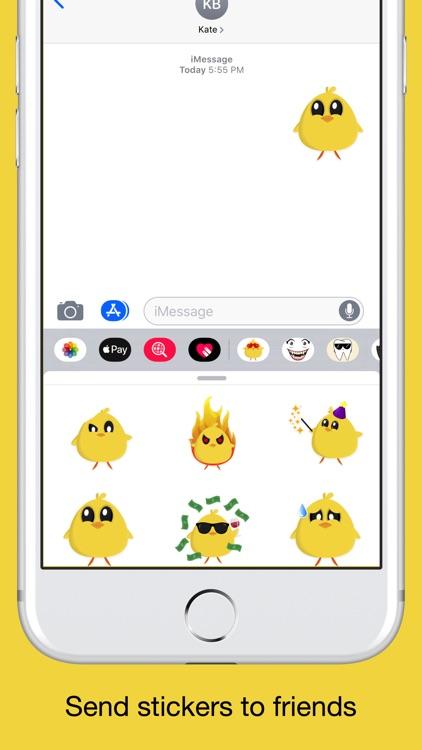 Chicky chick - chicken emoji screenshot-3