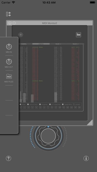 MIDI SWEET: MIDI Monitor2 (AU) screenshot 1