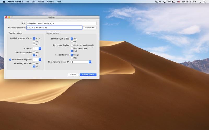 Matrix Maker X for Mac