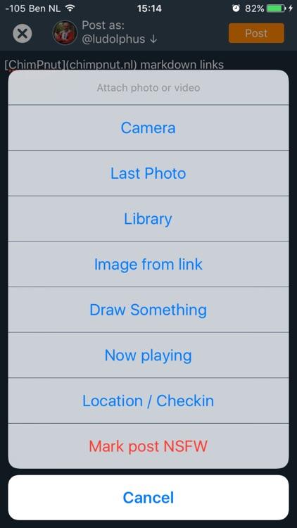 ChimPnut - Microblog,PM,Chat screenshot-4