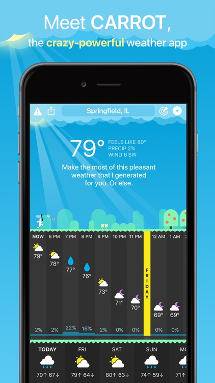 CARROT Weather screenshot-0