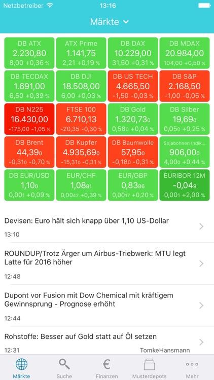 Hello Markets! Trading & Kurse screenshot-0