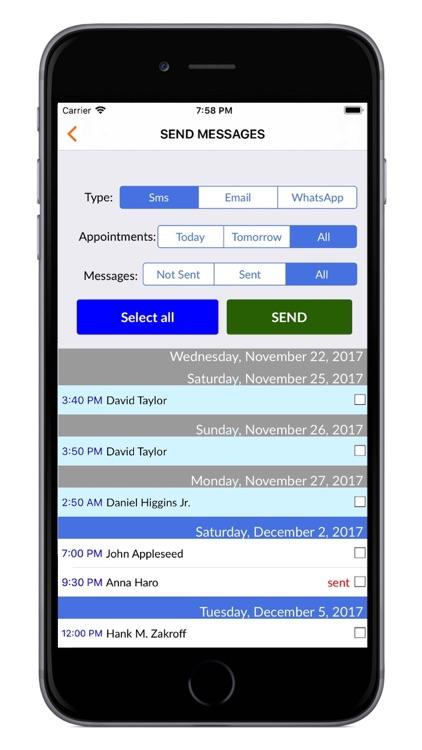 Sms Planner LITE-Send your SMS screenshot-4