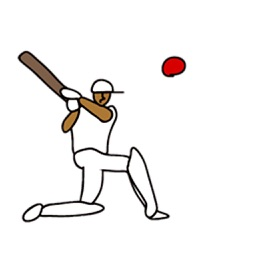 Cricket Icon Sticker