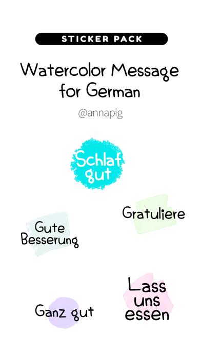 Watercolor Message for German screenshot 1