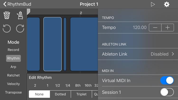 RhythmBud - AUv3 MIDI FX screenshot-4