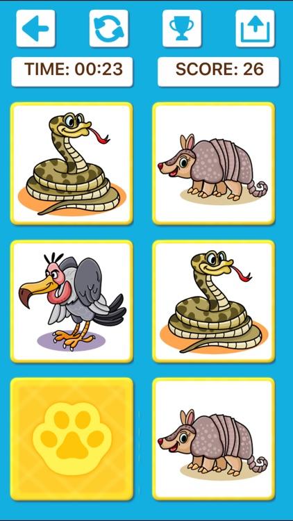 Animal Memory Matching Games screenshot-8