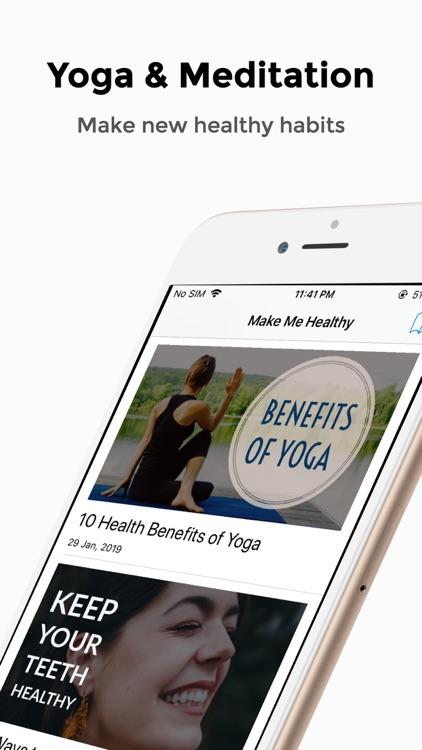 Make Me Healthy - Fitness app screenshot-4