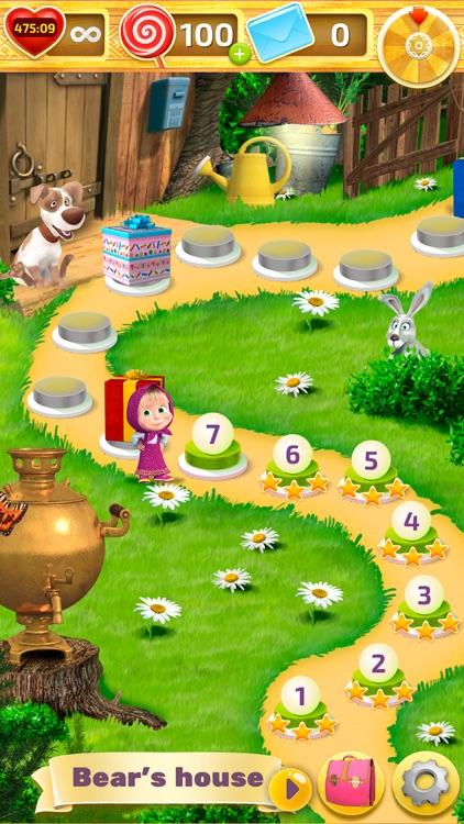 Match 3 Masha and the Bear Toy screenshot-7