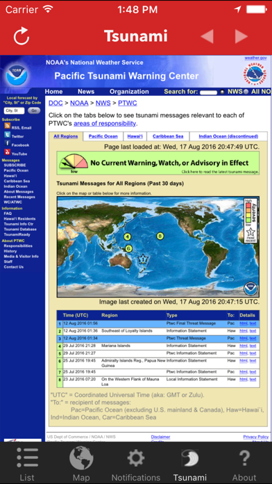 Earthquake Watch review screenshots