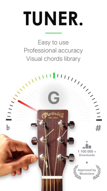 Guitar Tuner Pro, Bass,Ukulele screenshot-0
