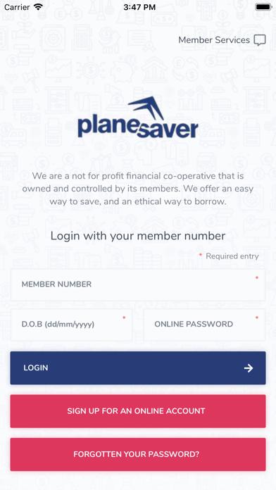 Plane Saver Credit Union screenshot one