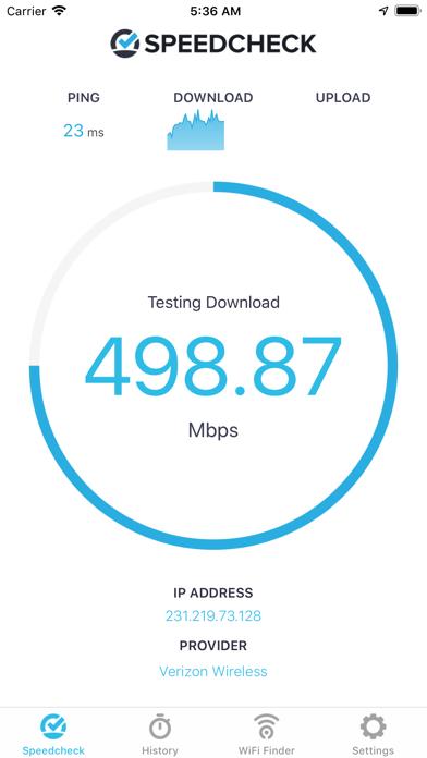 Internet Speed Test Speedcheck iPhone app afbeelding 1
