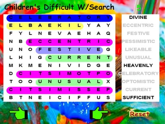 Kids Difficult Word Search screenshot 4