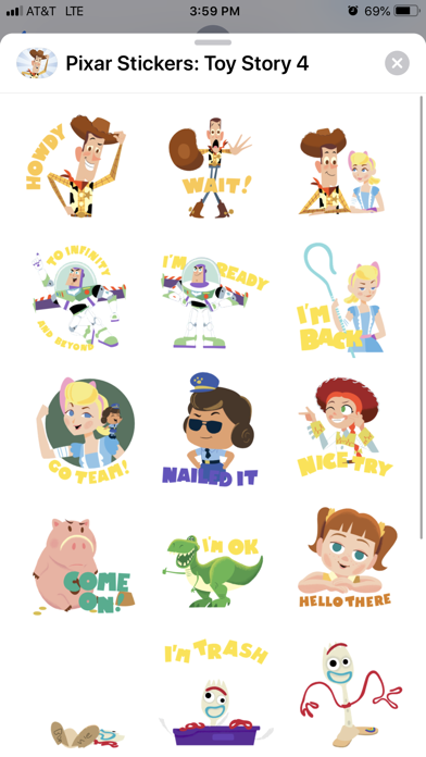 Pixar Stickers: Toy Story 4 Screenshot