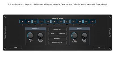 Vocal Harmonizer AUv3 Plugin screenshot 2
