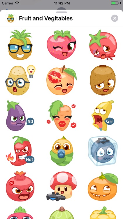 Fruit and Vegetables Stickers screenshot-4