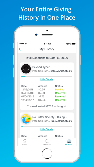 GiveTide: Donate Spare Change screenshot