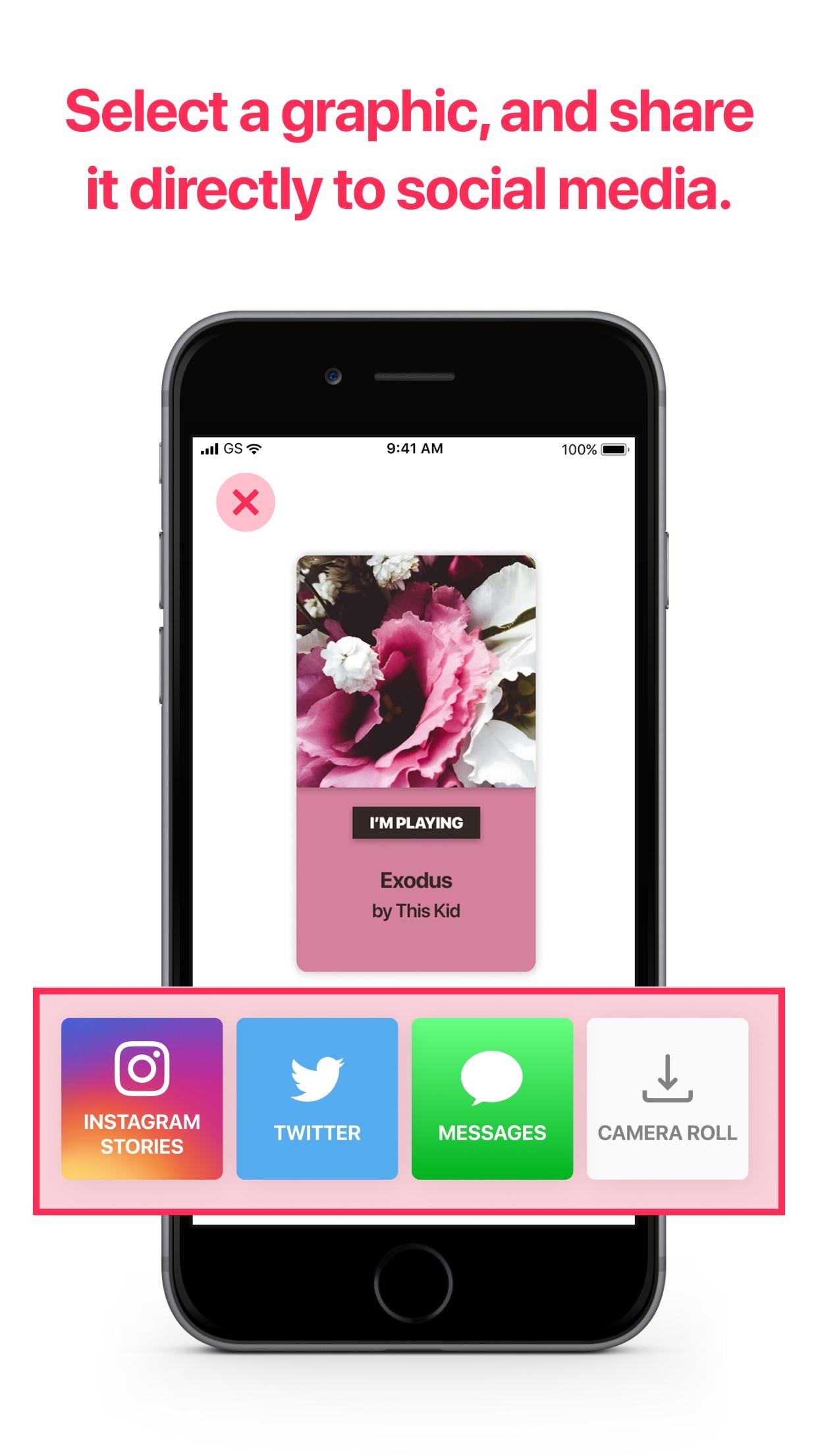 Screenshot do app Share Music Graphics