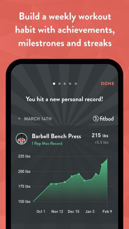 Fitbod Gym & Home Workout Log screenshot-4