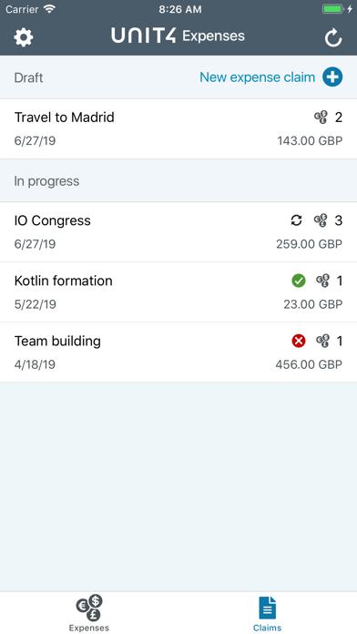 Unit4 Expenses screenshot three