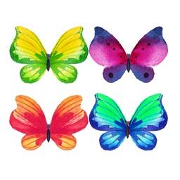 Watercolor Butterflies Sticker