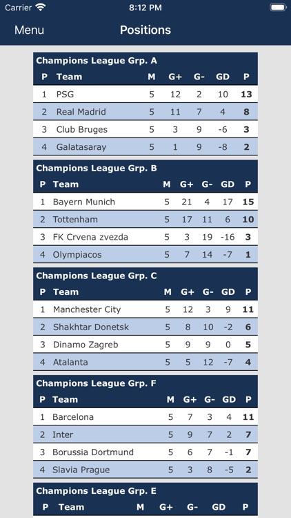 Champions League live screenshot-3