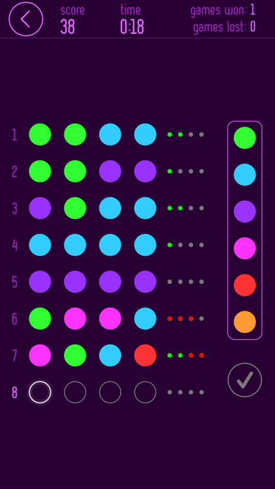 Mastermind Pro • Code Breaker Screenshots